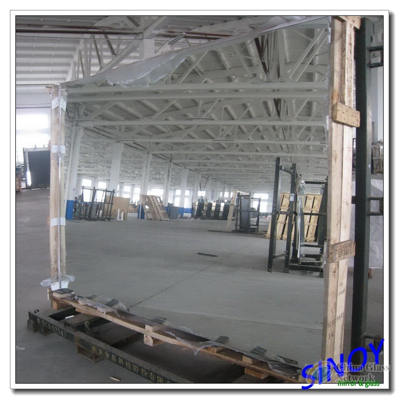 4mm thick double coated clear silver mirror glass with FENZI paints for bathroom and furniture applications