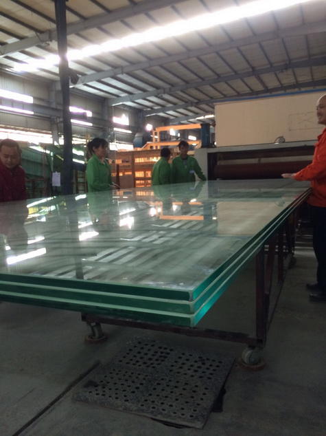 19+19+19 triple laminated glass for floor