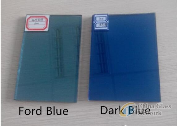 High Quality 3mm~15mm Blue Ford blue Ocean blue Float Glass Color Tinted Glass