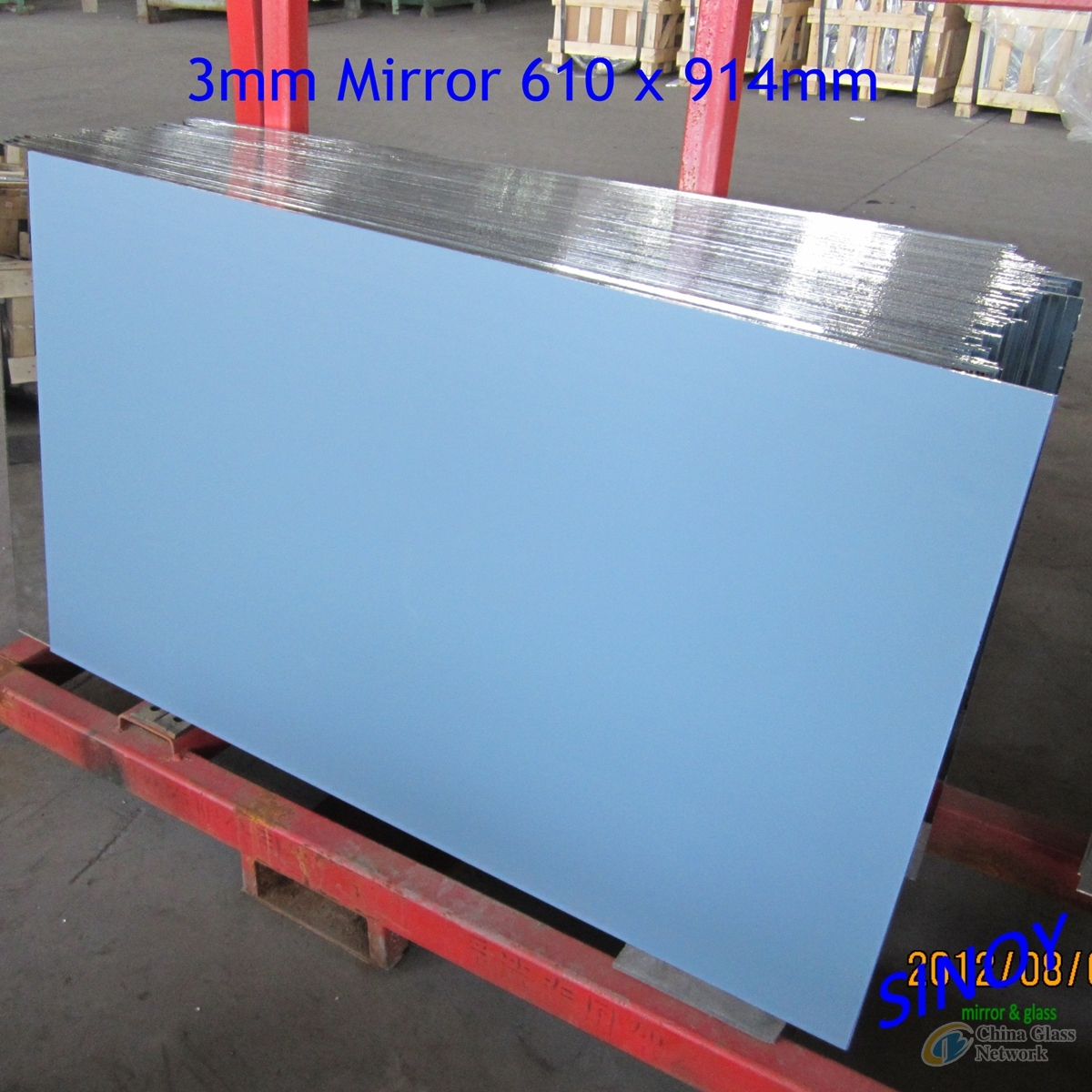 4mm Aluminum Mirror 1830 x 2440mm/2134 x 3300mm with magnetron sputtering coating technology