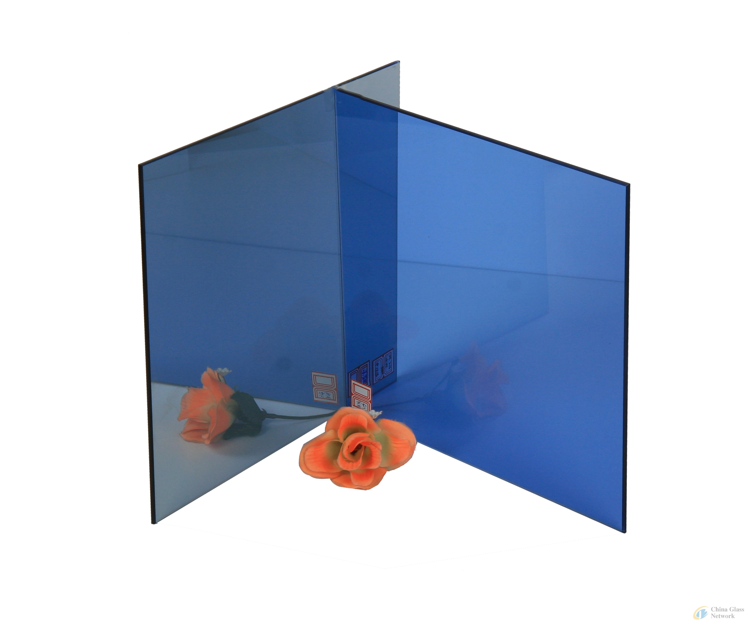 DARK BLUE GLASS