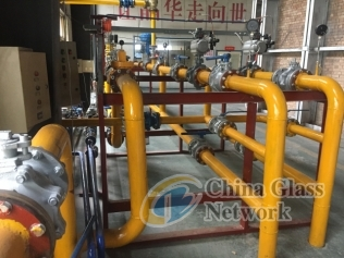 Furnace combustion system modification to natural gas firing