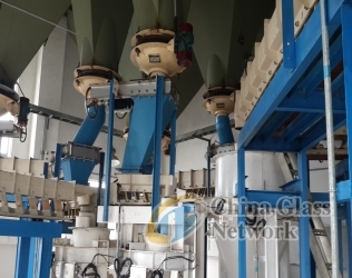 Raw material and batching system (batchhouse)