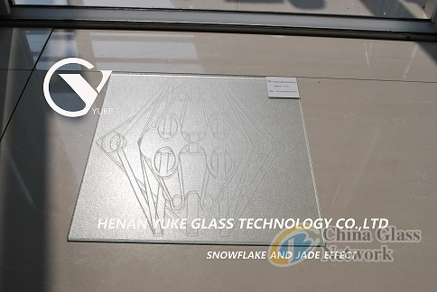 Flat Glass Combined With Snow And Jade