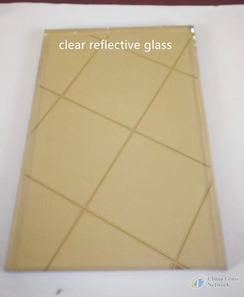 window/door glass 5mm/6mm clear/yellow reflective building/furniture glass with high quality