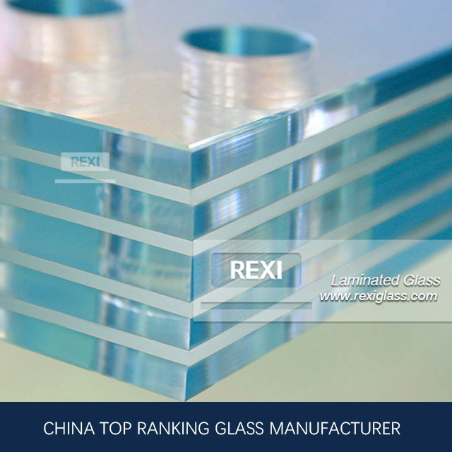 Triple Laminating Glass for glass fins, glass stair, CE, SGCC&AS/NZS certified