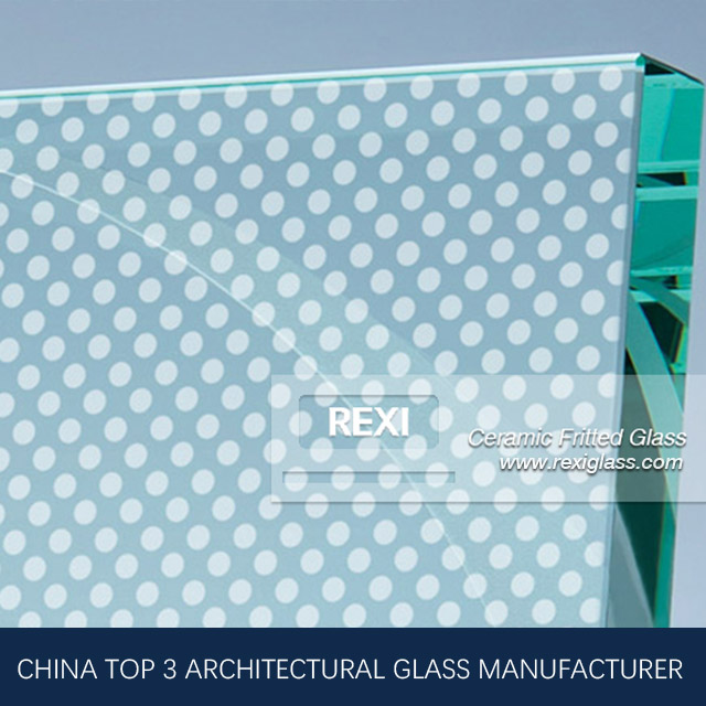 3mm-12mm Ceramic Frit Glass with max. size 3.3m*6m, CE, IGCC&AS/NZS certified