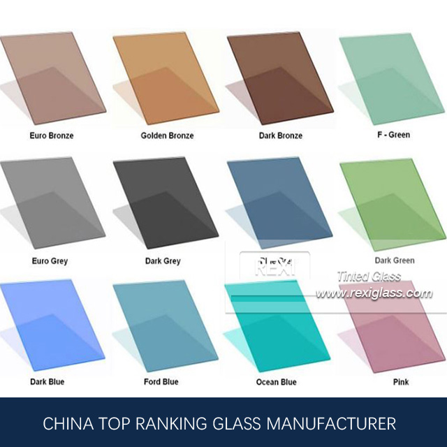 3mm-12mm Tint Glass, Green, Blue, Pink, Black, Grey, Bronze colors, CE certified
