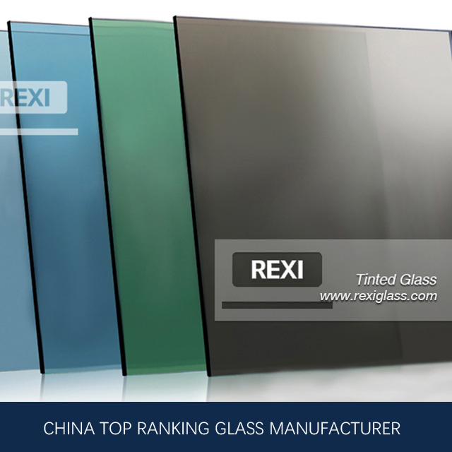 3mm-12mm Colored Float Glass , Green, Blue, Pink, Black, Grey, Bronze colors, CE certified