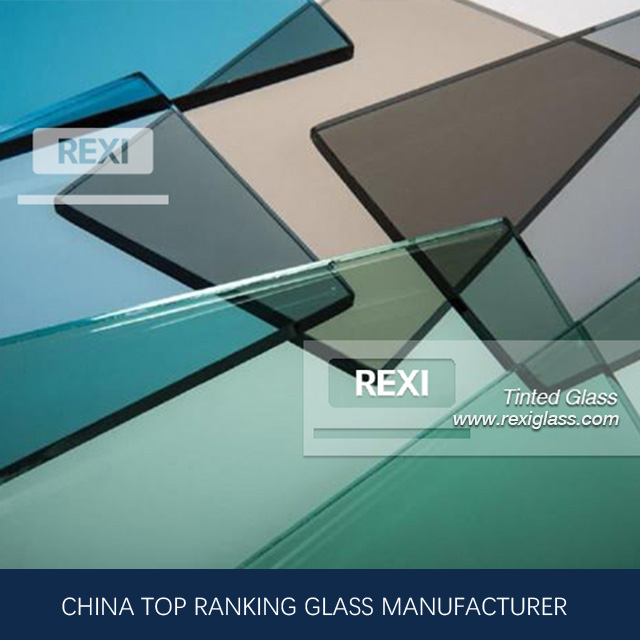 3mm-12mm Float Glass Colored , Green, Blue, Pink, Black, Grey, Bronze colors, CE certified