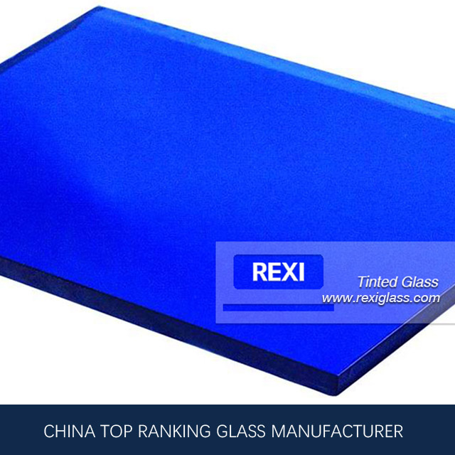 REXI, China Dark Blue Glass Manufacturer produce 3mm-12mm Dark Blue Glass
