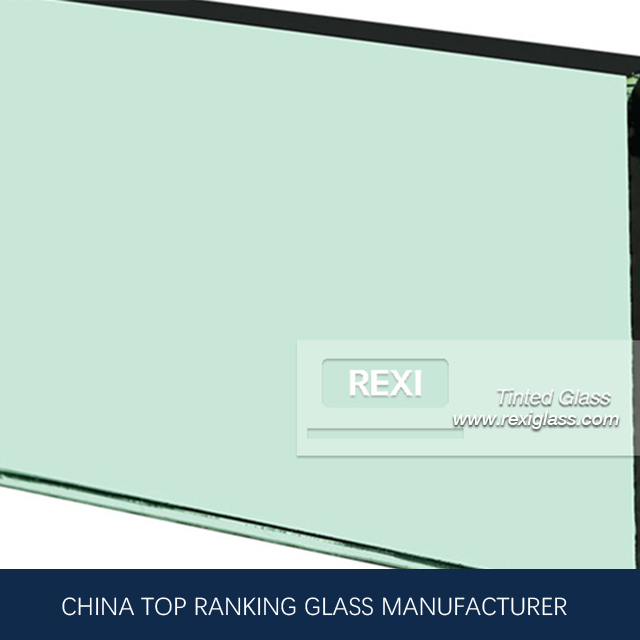 8mm F Green Glass, Temperable, Lamination and Insulation Grade, CE certified.