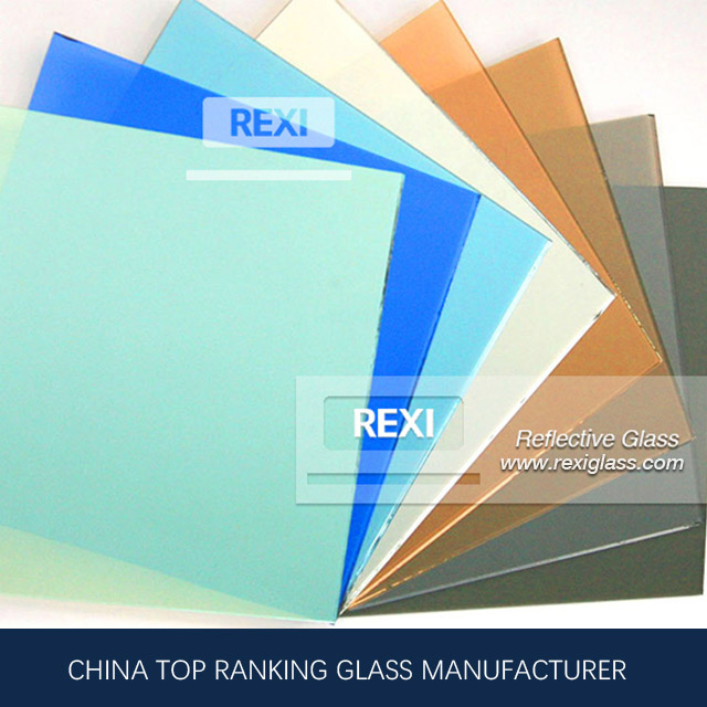 3mm-12mm bronze, grey, blue, green&golden REFLECTIVE GLASS, CE&AS/NZS certified