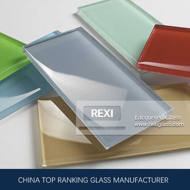 REXI, China Painted Glass Manufacturer produce Blue, Red, White, Black Painted glass