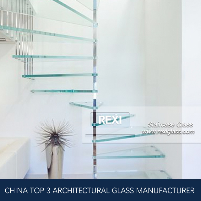 Glass Staircase by Tempered Laminated Glass, CE, SGCC&AS/NZS certified
