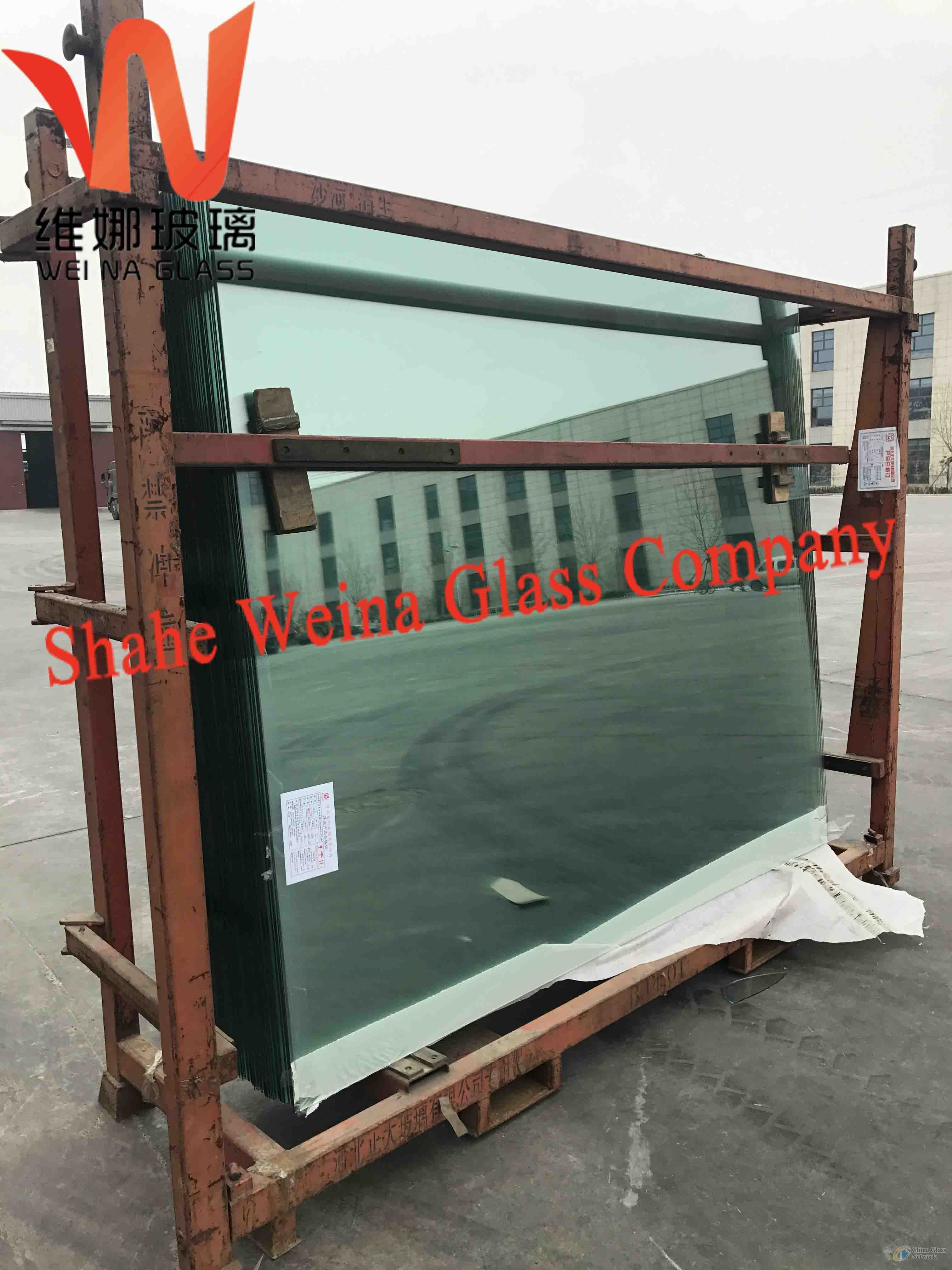3.8mm clear float glass from Weina Glass with high light transmittance