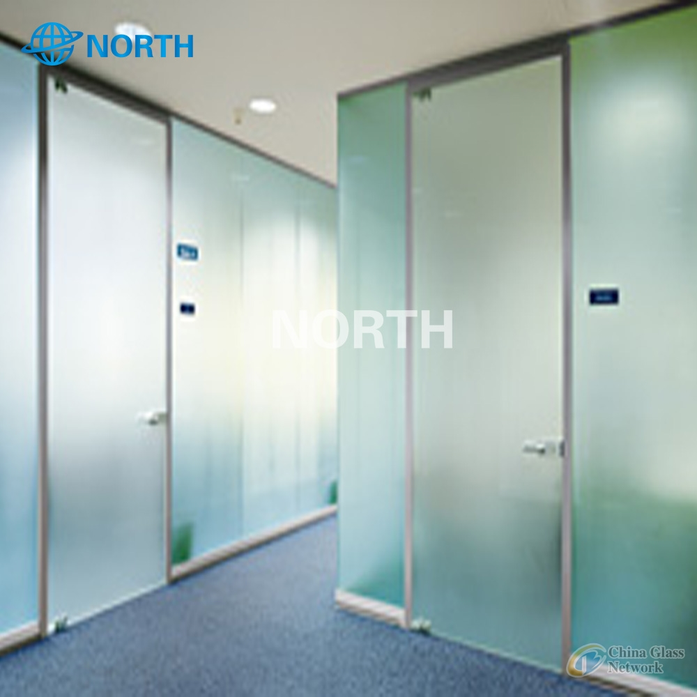 6mm Popular Interior Decoration Colored Acid Etched Glass