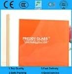 Dark Orange PVB + Clear Float Glass Laminated Glass
