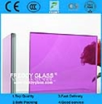 Purple DST PVB And Clear Float Glass Laminated Glass