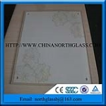 CE, EN Hot Selling Patterns Painted Tempered Glass