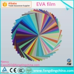 EVA film for laminated glass use