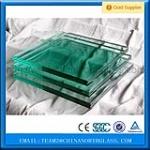 M201/204 milk white PVB Laminated Safety Glass 6.38mm