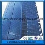 Standard size blue reflective tempered glass supplier