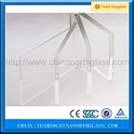 CE high quality tempered Low iron Glass