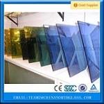 6mm 8mm dark blue reflective glass