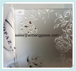 acid etched glass,figured glass,ornamental glass,morden glass wall decor,