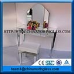Low iron tempered silver mirror glass supplier