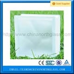 Beautiful Decorarive 190*190*85mm Clear Cloudy Glass Block Supplier
