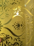 Deep acid etched mirror --bright and yellow