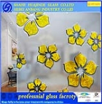 ceiling glass, ice flower decorative art building glass, high qulity good price glass