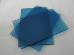 dark blue tinted glass
