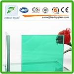 Blue/Green PVB Laminated Glass/Sea Side Safe Laminated Glass
