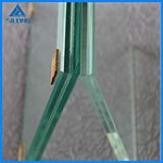 6mm glass +1.14PVB+ 6mm clear glass , tempered laminated glass