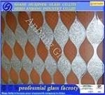 5D ceiling glass,decotive art flower building wall glass,glass manufacturer