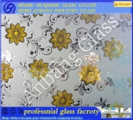 Ice flower glass, ice acid glass, golden flower glass, ceiling glass, shining glass