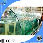 7 meter  19mm extra clear curved laminated glass for wall