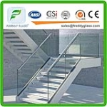 safety stair glass, balcony glass with CE ISO