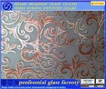 Ice acid decorative glass, window glass, Ice flower art glass ,ceiling/backlit/door glass