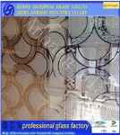 Frosted acid etched art glass,decorative glass