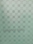 Frosted acid etched art glass,acid pattern decorative glass  3.5mm 4mm  door/ window glass/satin glass