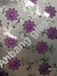 4mm 1650*2200mm ice flower with acid etched glass, decorative glass in Shahe glass factory