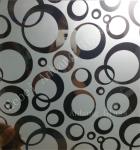 Hot sale titanium coated glass, acid frosted titanium decorative glass