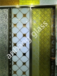 3-5mm ice flower with acid etched glass, frosted door/window/ceiling /wall decorative factory