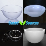 Quartz crucibles and glassware