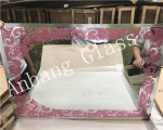 aluminum  mirror,decorative bathroom mirror  glass, double coated mirror, mirror factory China
