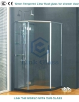 Float tempered shower glass with 3C CE and SGCC